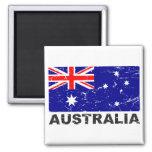 Australia Vintage Flag 2 Inch Square Magnet