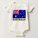 Australia Vintage Flag Baby Creeper