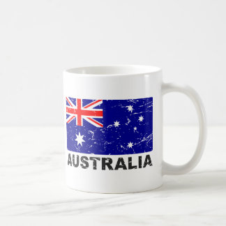 Australia Vintage Flag Classic White Coffee Mug