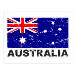 Australia Vintage Flag Postcard