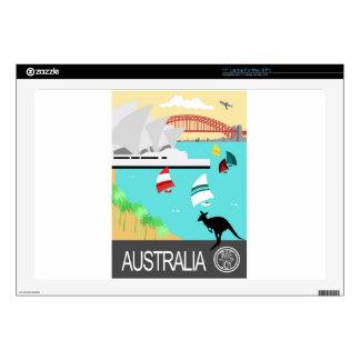 Australia vintage poster decals for laptops