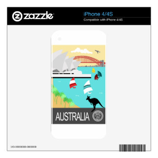Australia vintage poster decals for the iPhone 4S
