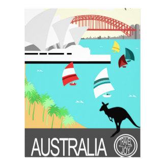 Australia vintage poster letterhead
