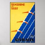 Australia Vintage Poster Restored