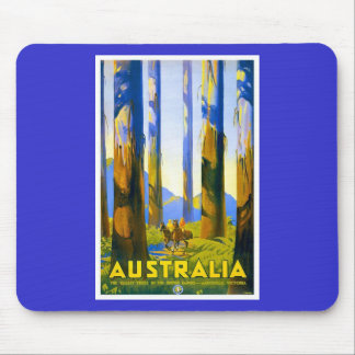 Australia - Vintage Travel Mouse Pad