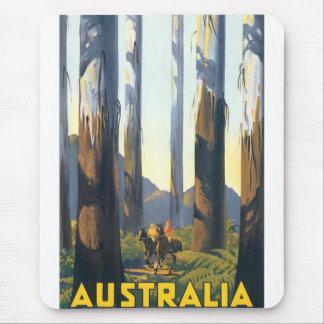 Australia Vintage Travel Poster Mouse Pad