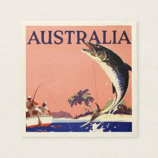 Australia Vintage Travel Poster Disposable Napkin