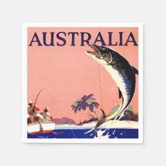 Australia Vintage Travel Poster Paper Napkin