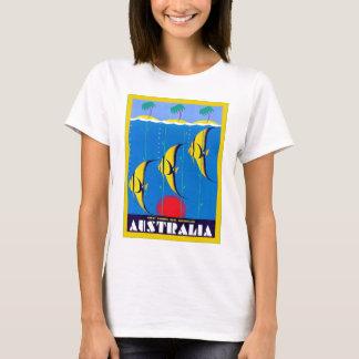 Australia vintage travel t shirts shirt designs zazzle for Travel t shirt design ideas