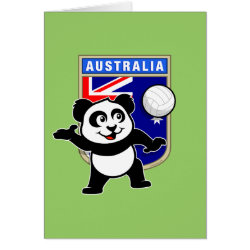 Note Card with Australia Volleyball Panda design