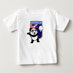 Baby Fine Jersey T-Shirt with Australia Volleyball Panda design