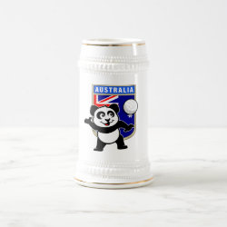 Stein with Australia Volleyball Panda design