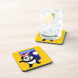 Beverage Coaster with Australia Volleyball Panda design
