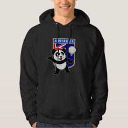 Men's Basic Hooded Sweatshirt with Australia Volleyball Panda design