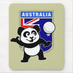 Mousepad with Australia Volleyball Panda design