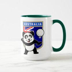Combo Mug with Australia Volleyball Panda design