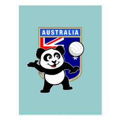 Postcard with Australia Volleyball Panda design