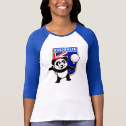 Ladies Raglan Fitted T-Shirt with Australia Volleyball Panda design