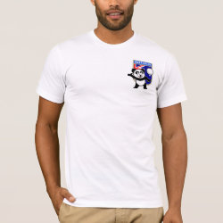 Men's Basic American Apparel T-Shirt with Australia Volleyball Panda design