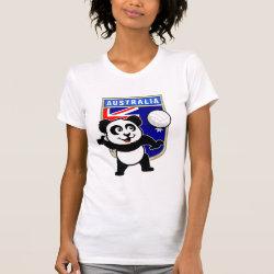 Women's American Apparel Fine Jersey Short Sleeve T-Shirt with Australia Volleyball Panda design