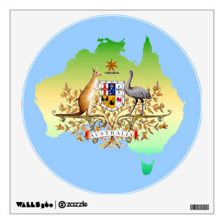 australia wall decals amp wall stickers zazzle australia map maps wall stickers adhesive wall sticker