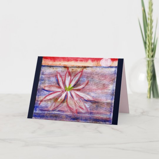 Australia water lily greeting card sends happiness zazzle australia water lily greeting card sends happiness m4hsunfo
