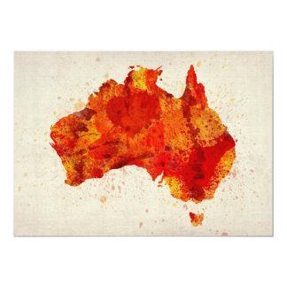 Australia Watercolor Map Art Print Card