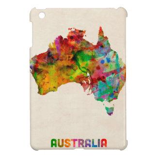 Australia Watercolor Map iPad Mini Covers