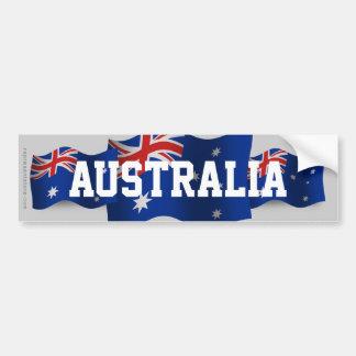 Australia Waving Flag Car Bumper Sticker
