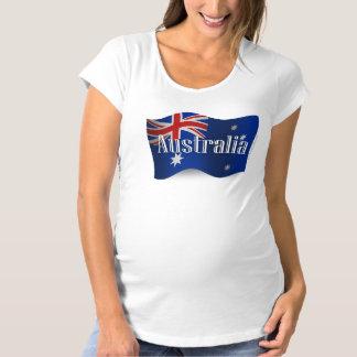 Australia Waving Flag Maternity T-Shirt
