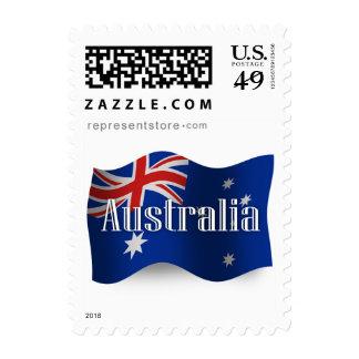 Australia Waving Flag Postage Stamp