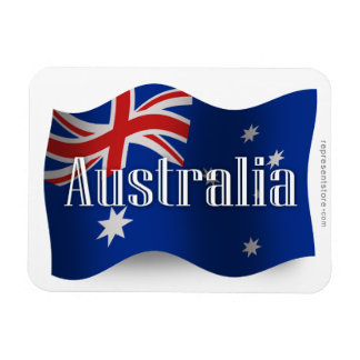 Australia Waving Flag Rectangular Photo Magnet