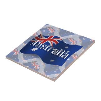 Australia Waving Flag Small Square Tile