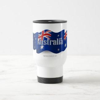Australia Waving Flag Travel Mug