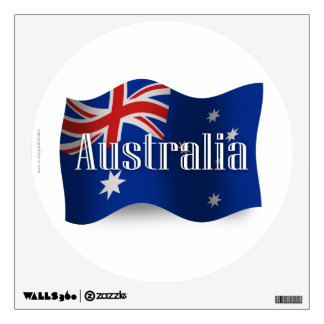 Australia Waving Flag Wall Sticker