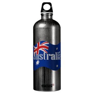 Australia Waving Flag Water Bottle