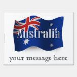 Australia Waving Flag Yard Sign
