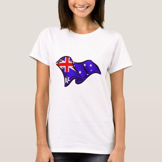 Australia wavy flag for Australians T-Shirt