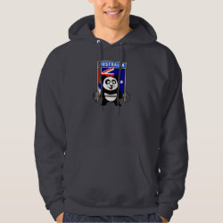 Australia Weightlifting Panda Men's Basic Hooded Sweatshirt