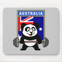 Mousepad with Australia Weightlifting Panda design