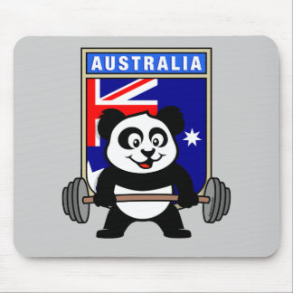 Australia Weightlifting Panda Mouse Pad