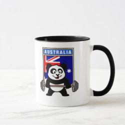 Combo Mug with Australia Weightlifting Panda design