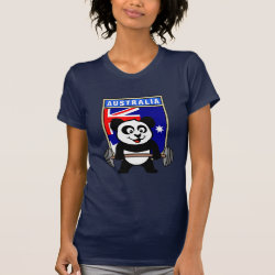 Women's American Apparel Fine Jersey Short Sleeve T-Shirt with Australia Weightlifting Panda design