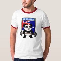 Australia Weightlifting Panda Men's Basic Ringer T-Shirt