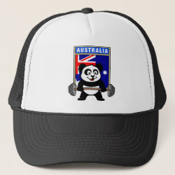Australia Weightlifting Panda Trucker Hat