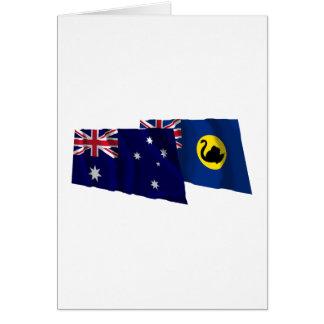 Australia & Western Australia Waving Flags Card