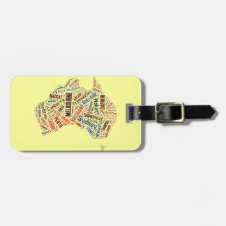 Australia Word Art Bag Tag