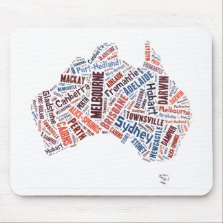 Australia Word Art Mouse Pad