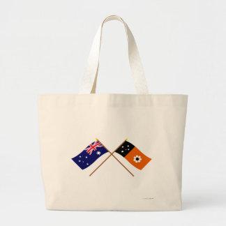 Australia y banderas cruzadas Territorio del Norte Bolsa