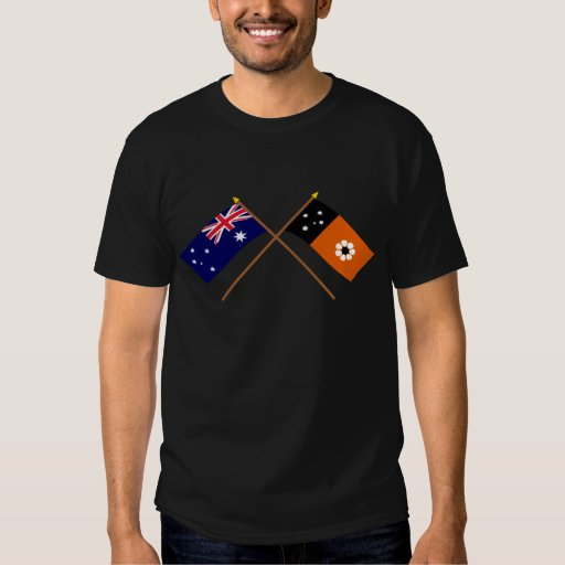 Australia y banderas cruzadas Territorio del Norte Playeras